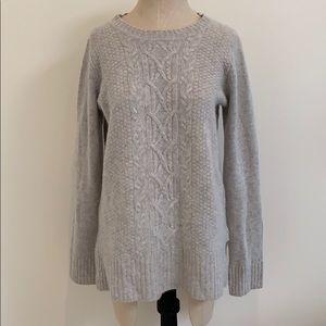 Cashmere fisherman knit sweater Cynthia Rowley L